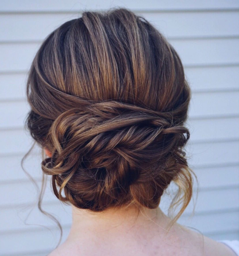 Updo How To: Romantic Bridal Bun – Style – Modern Salon In Blinged Out Bun Updo Hairstyles (View 24 of 25)