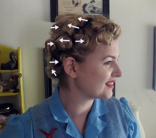 Va Voom Vintage | Vintage Fashion, Hair Tutorials And Diy In Pinned Curls Hairstyles (View 21 of 25)