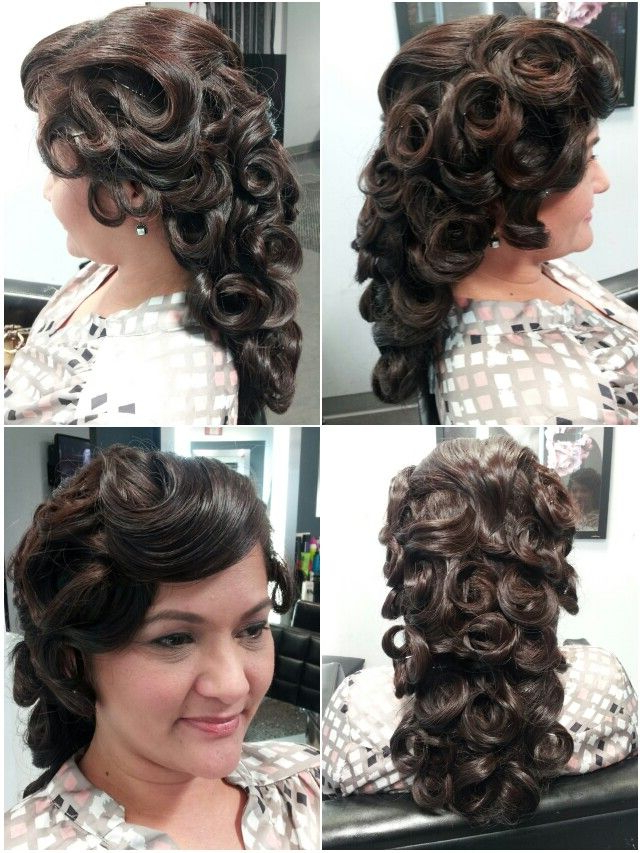 Vintage Curls Swirls Updo Hairstyle Thick Long Hair Retro With Regard To Swirl Bun Updo Hairstyles (View 19 of 25)