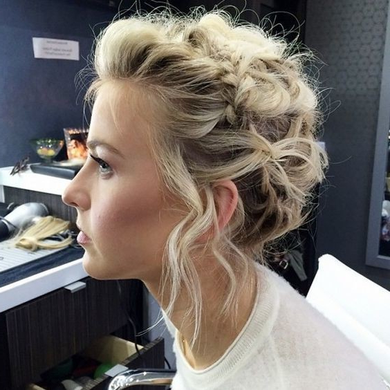 Voluminous Updo With Mini Crown Braid – The Cutest Braided Pertaining To Crown Braid Updo Hairstyles (View 12 of 25)