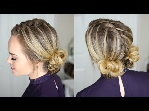 Waterfall Mohawk + Double Low Buns | Missy Sue – Youtube In Stacked Mini Buns Hairstyles (View 24 of 25)