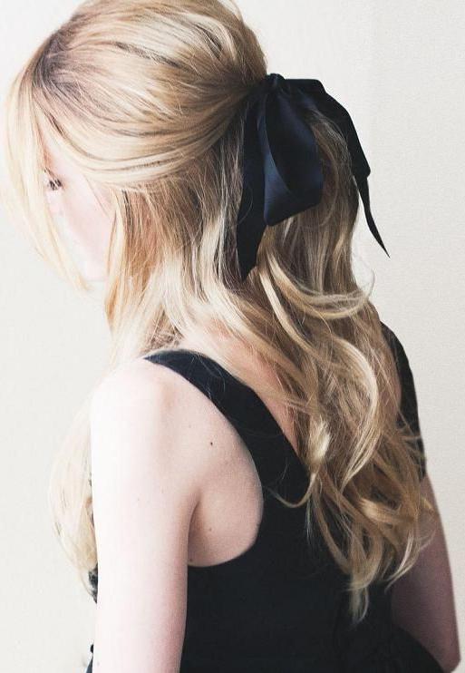 Wavy Hair, Black Ribbon (View 12 of 25)