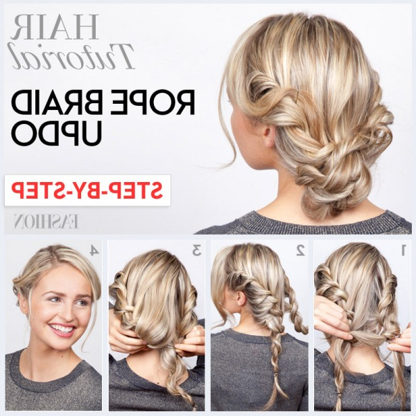 Wear A Braided Updo For The Season: Braided Updo Tutorials With Regard To Crown Braid Updo Hairstyles (View 20 of 25)