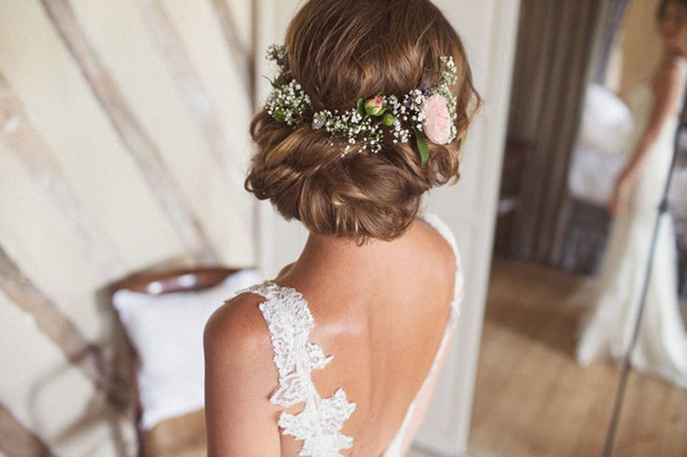 Wedding Hairstyles: 15 Fab Ways To Wear Flowers In Your Hair For Romantic Florals Updo Hairstyles (View 7 of 26)
