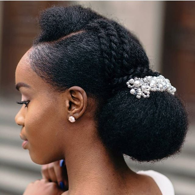 Wedding Hairstyles For Natural Hair | Popsugar Beauty Pertaining To Naturally Textured Updo Hairstyles (View 20 of 25)