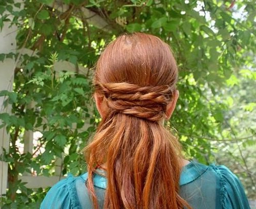 Wrapped Ponytail Hairstyles Tutorial – Trendy Long Hair With Wrapped Ponytail Hairstyles (View 21 of 25)