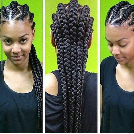 Zig Zag Braids | Feed In Braids / Ghana Braids / Stitch With Latest Zig Zag Cornrows Braided Hairstyles (View 22 of 25)