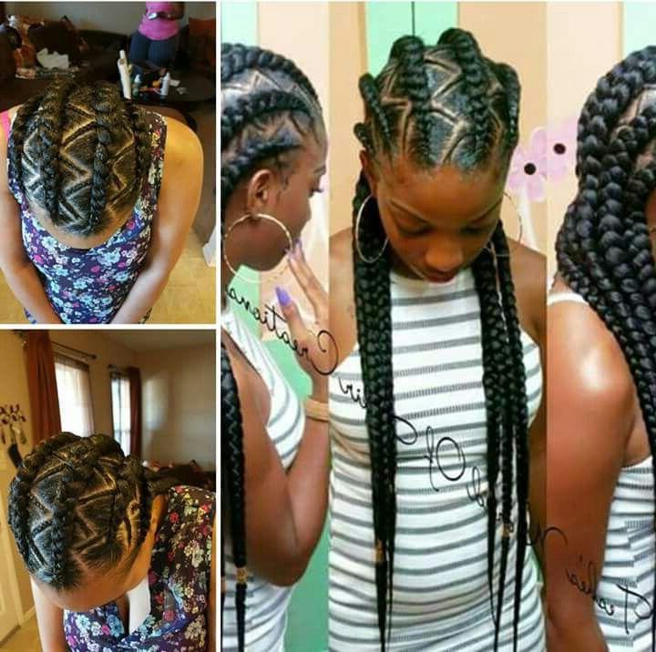 Zig Zag Goddess Braids | Napturality | Natural Hair Styles For Zig Zag Ponytail Updo Hairstyles (View 11 of 25)