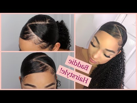 Zig Zag Part Ponytail W\weave | Ft (View 10 of 25)