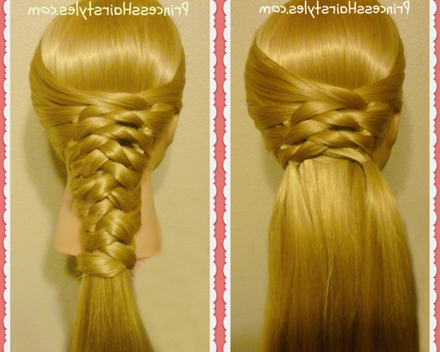 Zig Zag Woven Braid Tutorial | Hairstyles For Girls Inside Zig Zag Ponytail Updo Hairstyles (View 19 of 25)