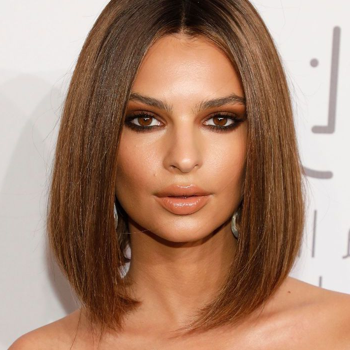10 Celebrity Long Bob Haircuts Inside Blunt Wavy Bob Hairstyles With Center Part (View 16 of 25)