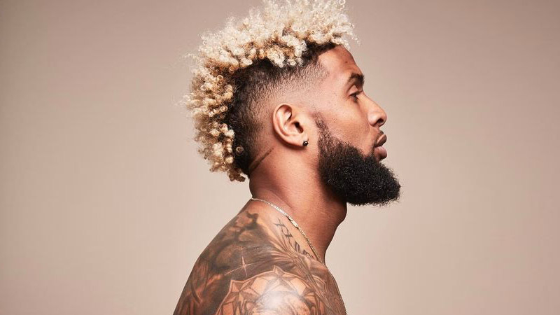 10 Cool Odell Beckham Jr Haircuts – The Trend Spotter Throughout Long Luscious Mohawk Haircuts For Curly Hair (View 17 of 25)