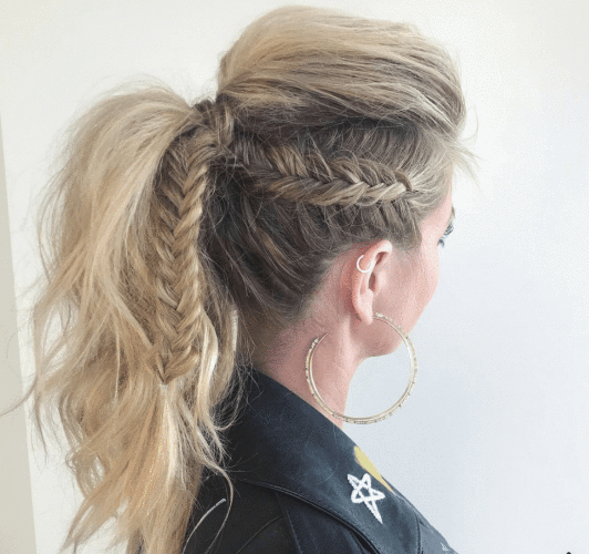 10 Different Types Of Mohawk Hairstyles For Women | Mohawk Regarding Ponytail Mohawk Hairstyles (View 25 of 25)