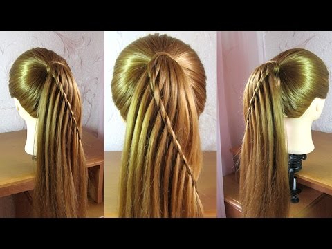 10 Easy Waterfall Braids You Can Do At Home – The Trend Spotter In High Looped Ponytail Hairstyles With Hair Wrap (View 14 of 25)