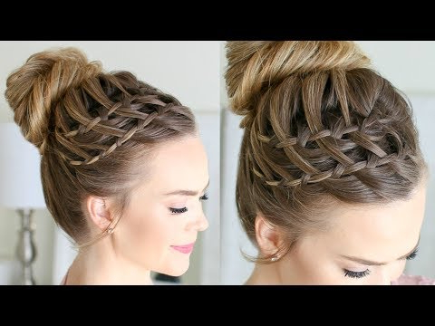 10 Easy Waterfall Braids You Can Do At Home – The Trend Spotter Intended For High Looped Ponytail Hairstyles With Hair Wrap (View 6 of 25)
