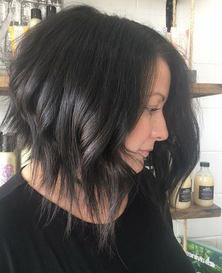 10 Lob Haircut Ideas – Edgy Cuts & Hot New Colors – Popular For Edgy Textured Bob Hairstyles (View 6 of 25)