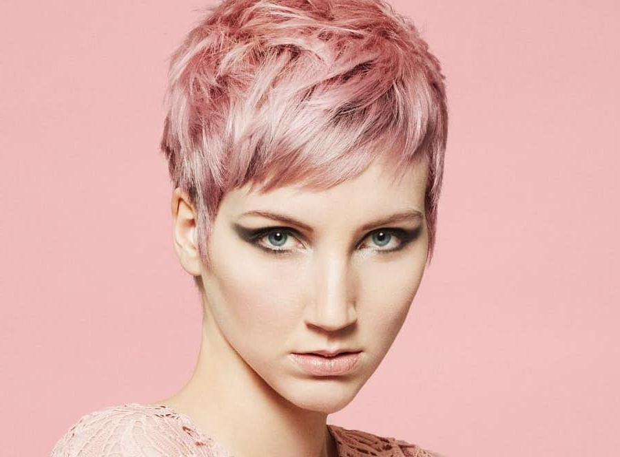 10 Of The Coolest Red And Pink Pixie Cuts (2019 Trend) Pertaining To Bold Asian Pixie Haircuts (View 20 of 25)