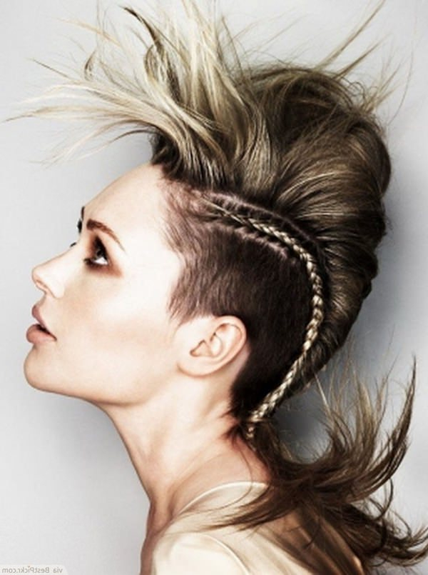 10 Punk Ways To Style Your Hair Without Cut Or Color In Teased Long Hair Mohawk Hairstyles (View 5 of 25)