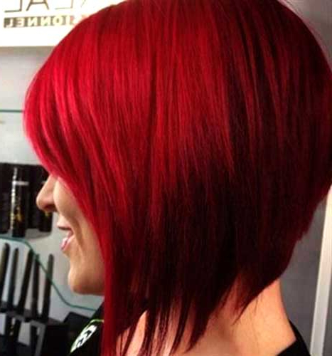10+ Red Bob Hairstyles | Bob Hairstyles 2018 – Short Inside Bright Bob Hairstyles (View 4 of 25)