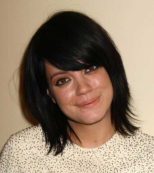 10 Short Bob Hairstyles With Side Swept Bangs Regarding Messy Short Bob Hairstyles With Side Swept Fringes (View 12 of 25)