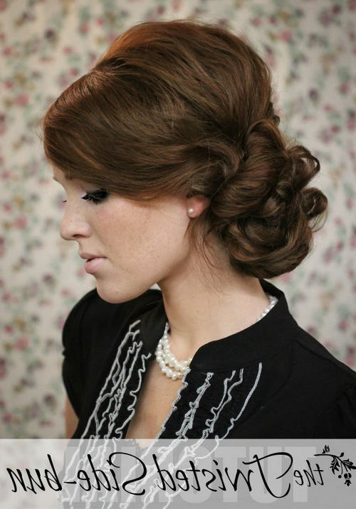 10 Side Bun Tutorials: Low, Messy And Braids Updos – Pretty Throughout Elegant Messy Updos With Side Bangs (View 16 of 25)
