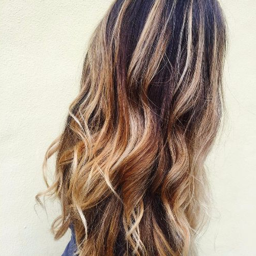 100 Caramel Highlights Ideas For All Hair Colors Inside Long Waves Hairstyles With Subtle Highlights (View 6 of 25)
