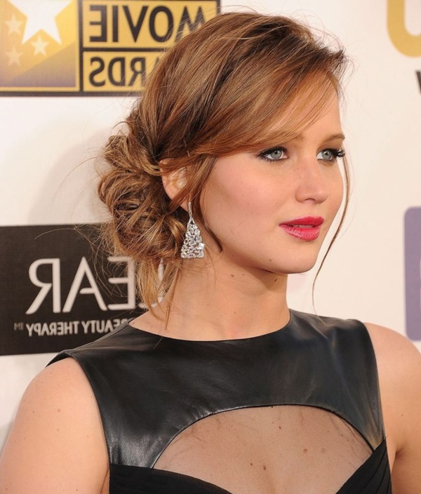 100 Side Swept Updos Hairstyles To Try This Year Throughout Loose Flowy Curls Hairstyles With Long Side Bangs (View 8 of 25)