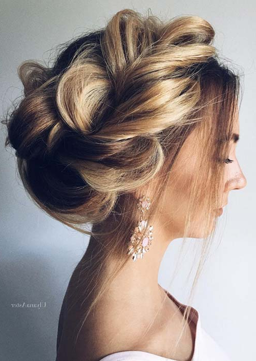 100 Trendy Long Hairstyles For Women To Try In 2017 With Regard To Braided Bun Hairstyles With Puffy Crown (View 16 of 25)