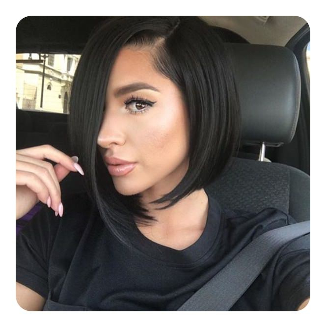 101 Asymmetrical Bob Hair Ideas For The Year 2019 – Style Easily In Classic Bob Hairstyles With Side Part (View 16 of 25)
