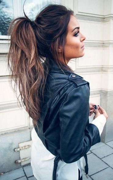 11 Cute High Ponytail Hairstyles For Beautiful Women | High Throughout Messy Voluminous Ponytail Hairstyles With Textured Bangs (View 7 of 25)
