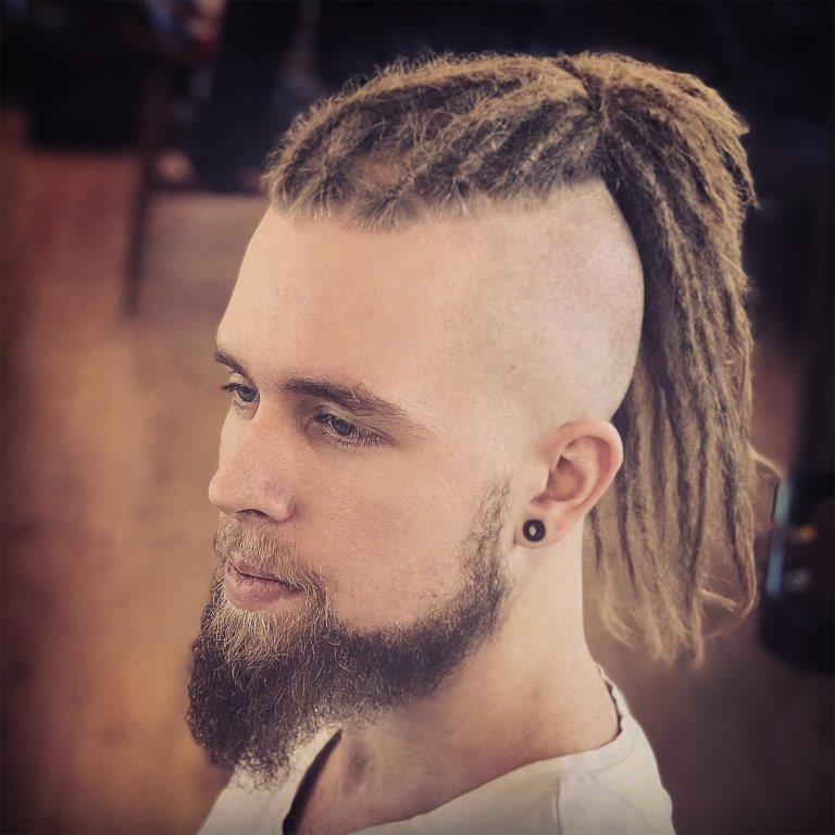 11 Of The Best Dreadlock Mohawks You'll Be Dying For – Cool Regarding Ponytail Mohawk Hairstyles (View 23 of 25)