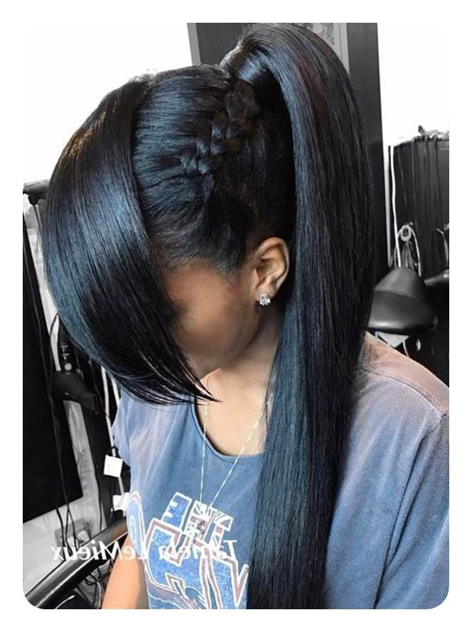 110 Unbelievable Ponytails With Bangs To Copy With Regard To Messy High Ponytail Hairstyles With Teased Top (View 16 of 25)