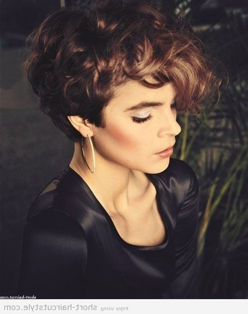 12 Short Hairstyles For Curly Hair – Popular Haircuts Intended For Pixie Haircuts With Large Curls (View 18 of 25)