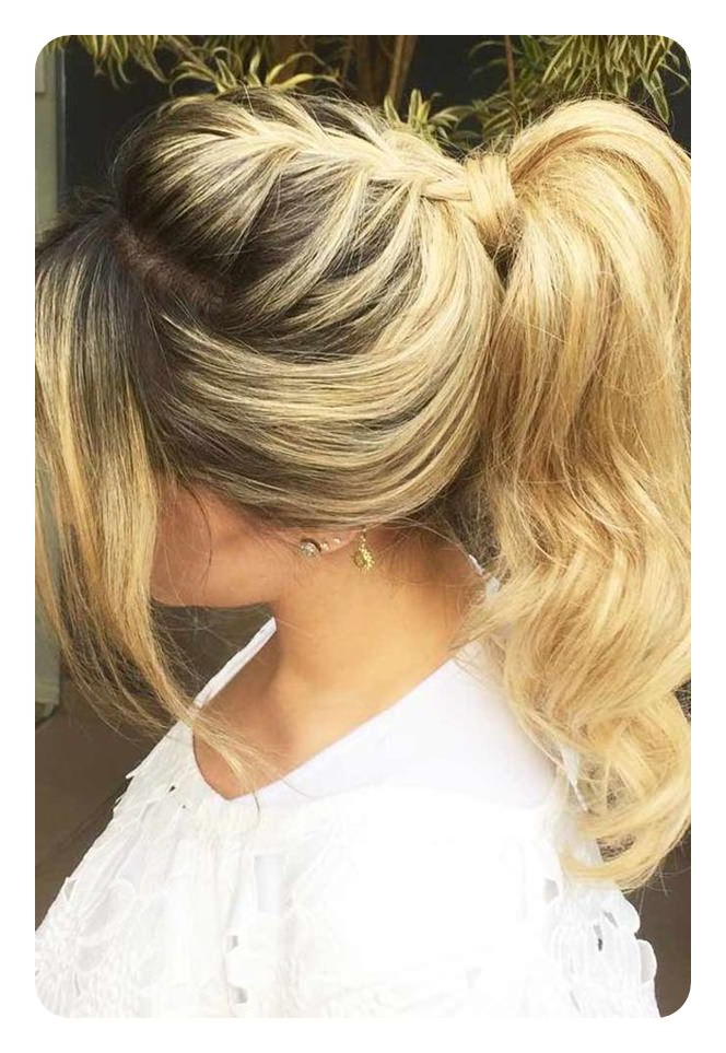120 Fascinating Ponytail With Bangs To Cherish On Throughout Braided High Bun Hairstyles With Layered Side Bang (View 18 of 25)