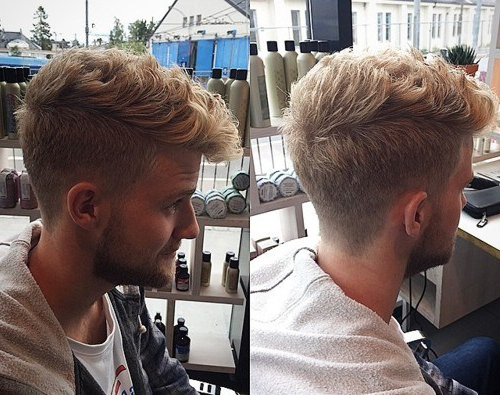 121 Coolest Faux Hawk Fade For Men (2019 Guide) – Hairstylecamp Within Long Curly Mohawk Haircuts With Fauxhawk (View 22 of 25)