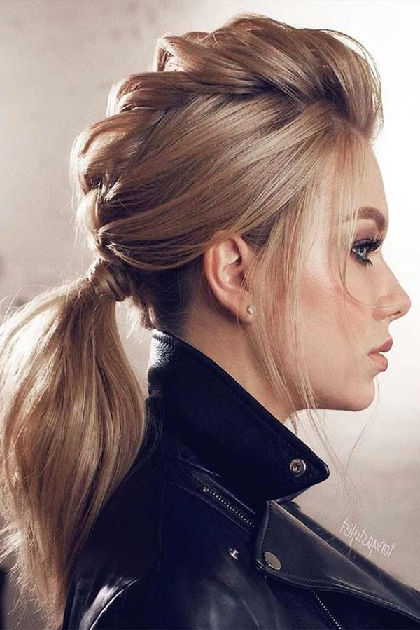 128 Latest Braided Ponytail Hairstyles For This Season Intended For Ponytail Mohawk Hairstyles (View 18 of 25)