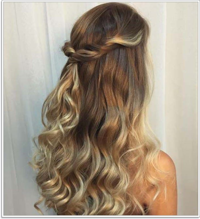 135 Whimsical Half Up Half Down Hairstyles You Can Wear For Throughout Easy Side Downdo Hairstyles With Caramel Highlights (View 9 of 25)