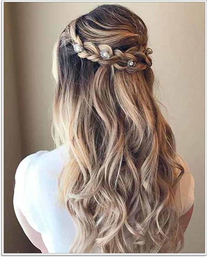 135 Whimsical Half Up Half Down Hairstyles You Can Wear For Throughout Long Half Updo Hairstyles With Accessories (View 7 of 25)