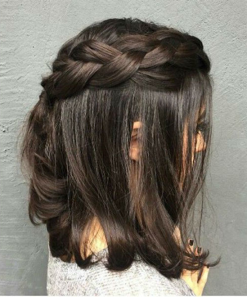 14 Of The Divine Half Up Braid On Shoulder Length Hairstyles Intended For Braided Shoulder Length Hairstyles (View 16 of 25)