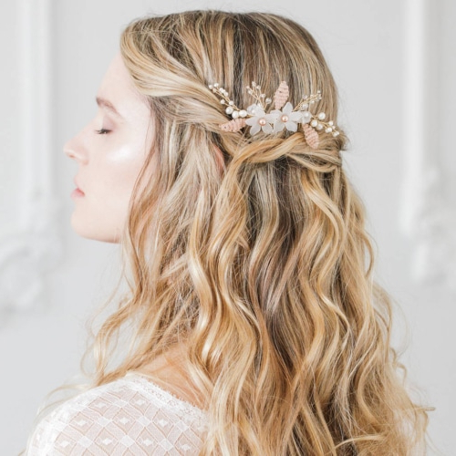 15 Beautiful Hairstyles For Bridesmaids – The Trend Spotter Within Long Half Updo Hairstyles With Accessories (View 25 of 25)