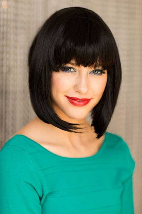 15 Best Inverted Bob With Bangs In Elongated Bob Asian Hairstyles (View 19 of 25)