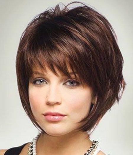 15 Cute Chin Length Hairstyles For Short Hair – Popular Haircuts Inside Hort Bob Haircuts With Bangs (View 25 of 25)