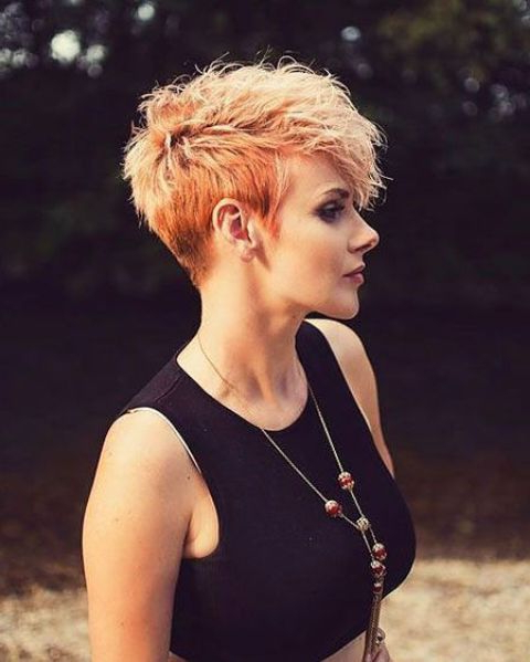 15 Edgy Short Haircuts For Women Over 40 – Styleoholic For Bold Pixie Haircuts (View 7 of 25)