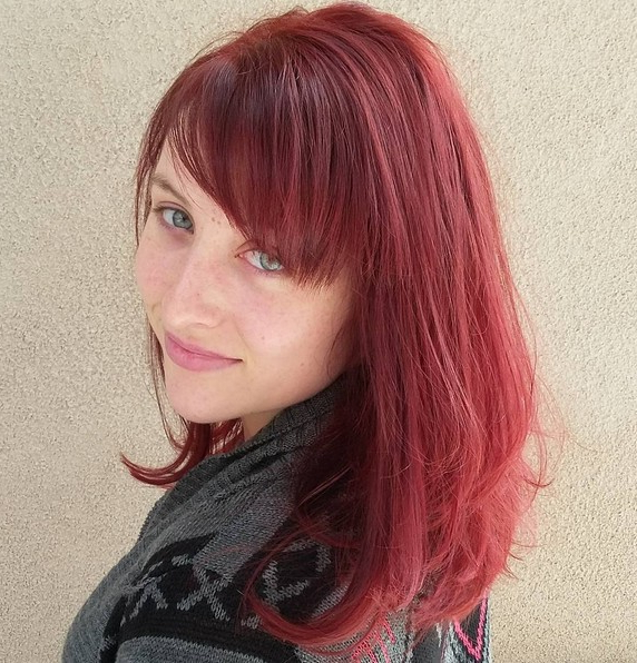 15 Hottest Medium Length Hairstyles With Bangs – Popular With Regard To Medium Length Red Hairstyles With Fringes (View 20 of 25)