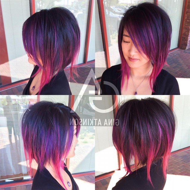 15 Ways To Add Bright Color To Your A Line Bob Haircut With Bright Bob Hairstyles (View 12 of 25)