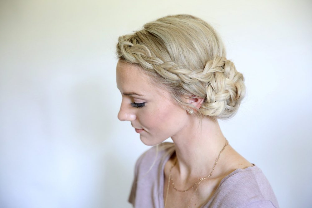 16 Easy Bun Hairstyles To Try (Tending In 2019) For Elegant Messy Updos With Side Bangs (View 17 of 25)