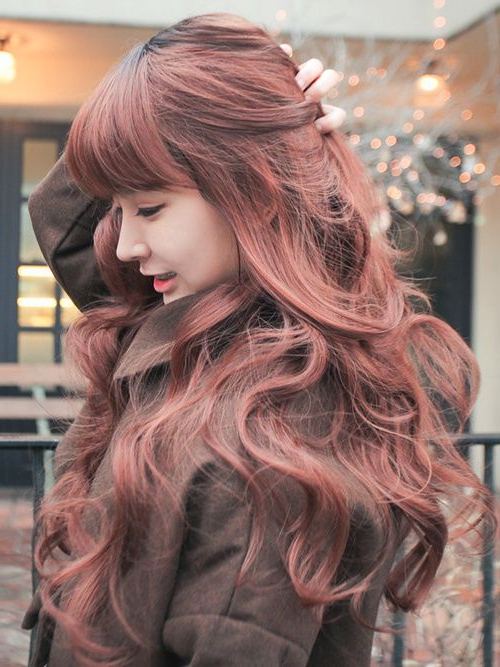 16 Fascinating Asian Hairstyles – Pretty Designs In Blunt Bangs Asian Hairstyles (View 17 of 25)