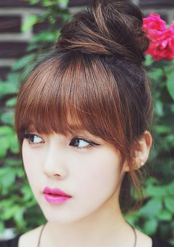 16 Picture Perfect Asian Hairstyles And Haircuts – Hairstyle In Blunt Bangs Asian Hairstyles (View 20 of 25)
