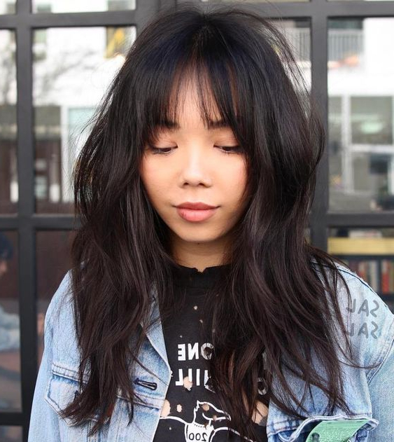 16 Picture Perfect Asian Hairstyles And Haircuts – Hairstyle Intended For Blunt Bangs Asian Hairstyles (View 12 of 25)