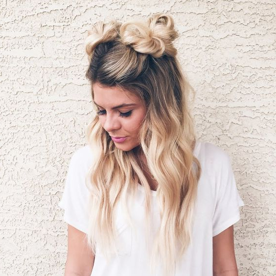 16 Super Cute Space Bun Hairstyles You Can Try This Year Intended For Cute Bob Hairstyles With Bun (View 22 of 25)
